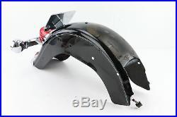 06 Harley Softail VIVID BLACK Rear Back Fender Brake Light Turn Signal Assembly