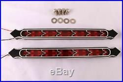 12 Harley LED Fender Brake FENDER Tail Light Turn SIGNAL BLINKERS Saddlebags