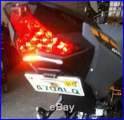 18-19 KAWASAKI NINJA 400 SX FENDER ELIMINATOR tail tidy rear turn signals EX400