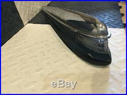 1940 1955 Cadillac Top of Fender Spear Emblem Chrome Ornament Insert Lighted