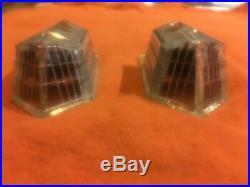 1940 Cadillac La Salle 50 52 USED GLASS Park Light Lamp Turn Signal Lens PAIR