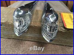 1941 Chrysler 8cyl Fender Mounted Turn Signal Parking Assembly Lenses Retainers