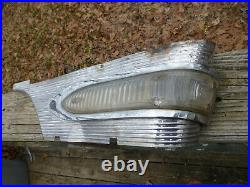 1956 Packard 400 Turn Signal Light PACK and Fender trim molding