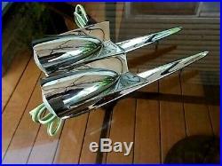 1958 studebaker packard hawk FRONT FENDER LIGHTS PARKING TURN SIGNAL NOS WithWINGS