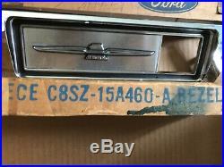 1968 1969 Ford Thunderbird Left & Right Front Fender Turn Signal Bezels Nos