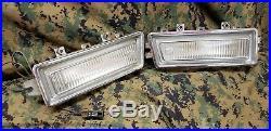 1968 68 Cadillac Deville LH & RH FENDER MARKER LIGHTS chrome gm oem