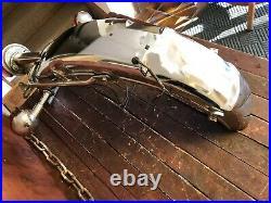 1973 YAMAHA TX750 Rear Fender with Grab Rail Bar Turn Signals and Tail Light