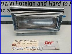1980-1990 Caprice Right Front Fender Cornering Lamp Light Lens Chrome Trim Bezel