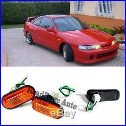 1994-2001 Acura Integra DC2 Amber JDM Side Marker Turn Signal Fender Light Lamp