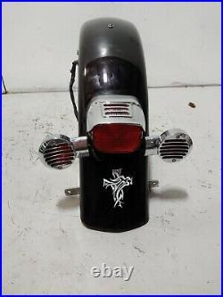 1994 Harley Davidson Road King Flhr Rear Fender & Brake Light Turn Signal Bar