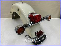 2003 Harley Flh Ultra Classic Shrine Pearl White Rear Fender Brake Turn Signal