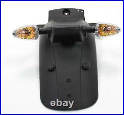 2007 MOTO GUZZI BREVA V1100 BLACK OEM REAR WHEEL FENDER MUD GUARD with TURN SIGNAL