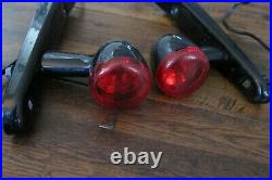 2010 OEM Harley Sportster Black Rear Turn Signals Fender Strut Covers Mount 04+