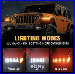 2018-2020 Jeep Wrangler JL LED Fender Lights Turn Signal DRL Lamps