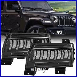 2021 NEWEST Fender JL DRL Turn Signal for Jeep Wrangler Sahara Rubicon 2018-2020