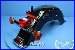 #2856 07 Harley Softail Heritage Rear Back Fender & Brake Light Turn Signal