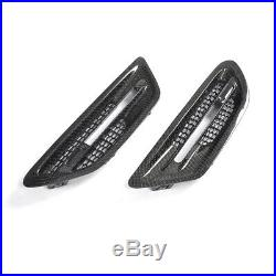 2PCS Carbon Fender Gills Vents Turn Signal Cover For BMW F10 M5 Saloon 12-17