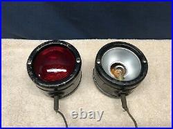 2VINTAGEOEM1940s-50s TRUCK/BUS/CUSTOM/RAT ROD FENDER TOP TURN SIGNAL LIGHTS