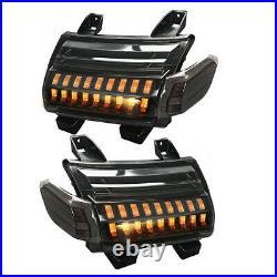 2x Front LED Fender Turn Signal Lights DRL For Jeep Wrangler JL JLU Sahara 2018+