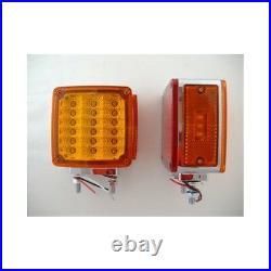 36 LED Amber Red Side Marker Turn Signal Semi Fender Lights