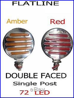 36 LED Red/Amber Side Marker Turn Signal Semi Truck Fender Lights(PAIR)Red/Amber
