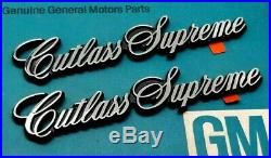 4 Door 80 87 Olds Cutlass Supreme Nos Fender Emblem Set 4dr Sedan Oem Gm Trim