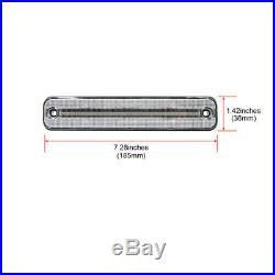 4x F&R Led Fender Side Marker Lights For Hummer H2 2003-2009 Amber/Red Indicator
