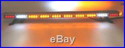 50 LED AMBER LIGHT BAR Flat Bed TOW TRUCK PLOW EMS PILOT CAR TURN SIGNAL