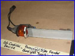 66 Cadillac Deville RIGHT PASS TOP FENDER GUNSIGHT TURN SIGNAL INDICATOR TESTED