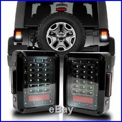 7'' LED Halo Headlights Fog Turn Signal Fender Tail Lights for Jeep Wrangler JK