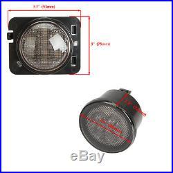 7 LED Headlight +4 Fog Halo Light+Turn Signal+Fender Kit for Jeep Wrangler JK