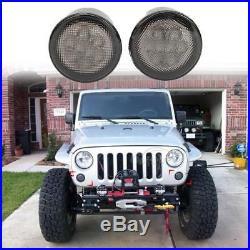 7 LED Headlight + Turn Signal + Front Fender Lights For Jeep Wrangler JK 07-17