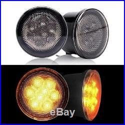7 RGB LED Headlight+4 RGB Fog Lights+ Turn lights For Jeep 07-17 Wrangler JK