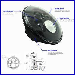 7 Round LED Headlight COMBO 4 Fog Lamp Fender Turn Signal For Jeep Wrangler