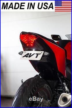 AVT Yamaha YZF-R3 Fender Eliminator NI Kit 2019-2020 R3 FLUSH LED Turn Signals