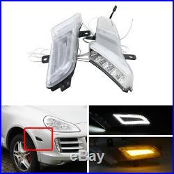 Amber Fender Led Side Marker Lights For 07-10 Porsche Cayenne Parking Lights