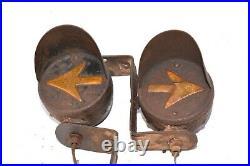 Antique Car Turn Signals DIETZ PILOT MODEL 350 LOT Vintage Truck Lamp Parts