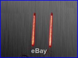 Bagger Dual 9 LED Light Strips Rear Fender Stop, Turn Signals Harley Davidson