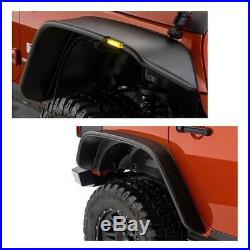 Bumper Lower Fender Flares with LED Turn Signal Light For 07-17 Jeep Wrangler JK