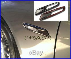 Carbon Fiber BMW F10 4D Side Front Fender Turn Signal Light Trim Cover 528i 535i
