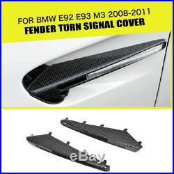 Carbon Fiber Side Marker Light Fender Turn Signal Cover For BMW E92 E93 M3 08-11