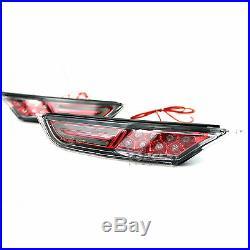 Cherry Red LED Side Fender Bar Marker Lights for Nissan GT-R R35 Coupe Skyline