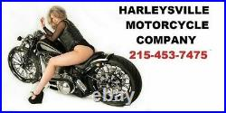 Chrome Rear Fender Struts without Turn Signal Holes Harley Wide Glide FXWG 80-86