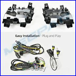 Clear LED Fender Daytime Running Turn Signal Lights for 18-20 Jeep Wrangler JL