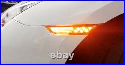 Clear Lens 3D Amber Full LED Front Side Marker Light Kit For 2007-up Nissan GTR