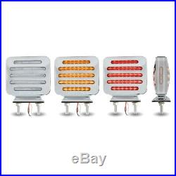 Double Face Semi Fender Light Clear Amber / Clear Red Turn Signal & Marker