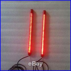 Dual 9 LED Light Strips for Rear Fender Turn Signals, Brake & Parking Lights
