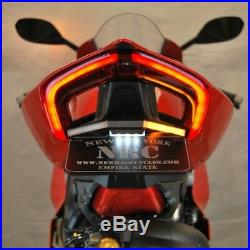 Ducati Panigale V4 Fender Eliminator Kit LED Flush Turn Signal Bar