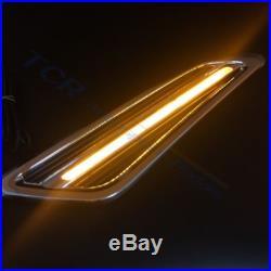 Dynamic Side Fender Marker Turn Signal Light Cover For Nissan Patrol Y62 2011-17