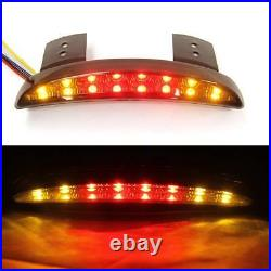 Eagle Lights Smoke Chopped Fender Edge LED Taillight with Integrated Turn Signal